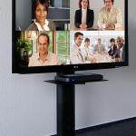 Standfuss Lifesize schwarz höhenverstellbarer Videokonferenzsystem Medienwagen